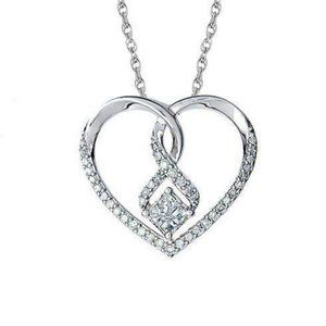 White Gold 14K Jewelry New Princess And Round Shap